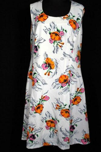 VINTAGE FRENCH 1980'S FLORAL POLY KNIT PRINT DRESS