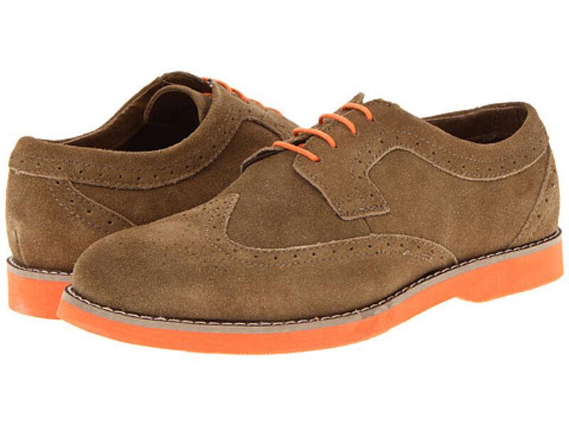 New PERRY ELLIS KENNETH LIGHT BROWN orange suede men's shoes sz 8.5