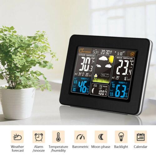 Wetterstation Funk Außensensor Barometer Thermometer Wettervorhersage MA2239