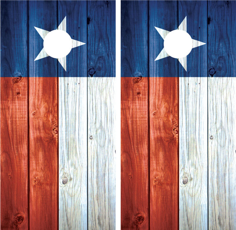 Texas Flag Distressed Wood Vintage Cornhole  Board Decal Wrap Wraps  famous brand