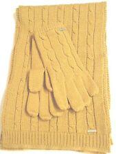 Nine West Colorado Scarf & Glove Set,Gold