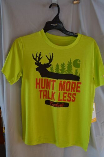"Carhartt Force T-Shirt /""Hunt More Talk Less/"" CA8554 Boys//Kids//Teenagers Sizes"