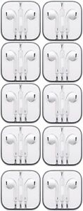 Lot-of-10-Earbuds-Earphone-Headset-With-Mic-For-Apple-iPhone-5-iPhone-6-6s-iPod