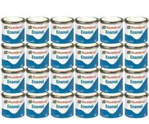 HUMBROL-Enamel-Paint-Gloss-Matt-Satin-Varnish-14ml-Choose-Colour-Color-Tinlet