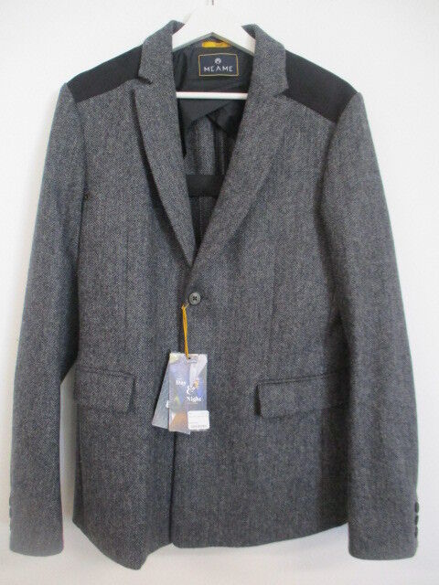 Meame ALPHA  Herren Reflective Tweed Blazer   15545  Fahrradbekleidung Anthrazit