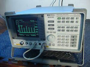 hp agilent 8593e spectrum analyzer w tracking generator 26 5 ghz rh ebay de Frequency Counter Portable Spectrum Analyzer
