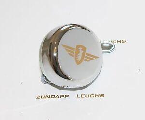 Zündapp Glocke Klingel Chrom Flügel Gold 400-17.610 C 50 Super Typ 441 Akcesoria i osprzęt