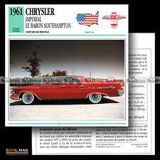 #014.04 CHRYSLER IMPERIAL LE BARON SOUTHAMPTON 1961 Fiche Auto Classic Car card