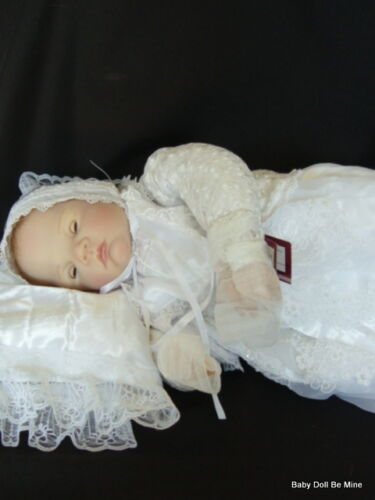 New Ashton Drake * Christening Baby Doll * by Waltraud Hanl *Open/Close Eyes