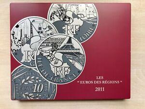 Série FRANCE monnaie 10€ euro des régions 2011 pièces argent en coffret complet