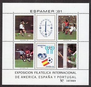 Argentina 1981 Yvert&tellier Hoja Bloque 28** Espamer '81 MatéRiaux De Choix