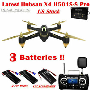 Hubsan-X4-H501S-S-Pro-Drone-5-8G-FPV-Brushless-Quadcopter-1080P-GPS-RTF-3Battery