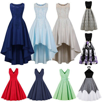 Womens Formal Evening Party Prom Gowns Bridesmaid Vintage Swing Dress Plus Size | eBay