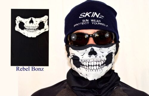 Mask Scarf Skulls Men UVP Head Neck Gaiter Hood Bones Black Creepy Face Bikers