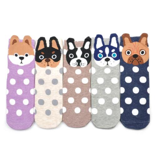 Womens Cute Dogs Stereoscopic Cotton Socks Cartoon Dog Socks Casual Socks