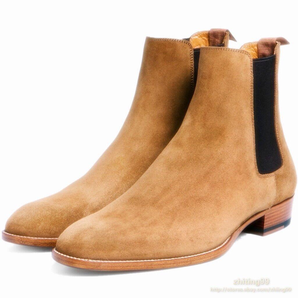 negozio outlet Runway Uomo Chelsea Ankle avvio Real Suede Leather Dessert Millitary Millitary Millitary scarpe Winter  una marca di lusso