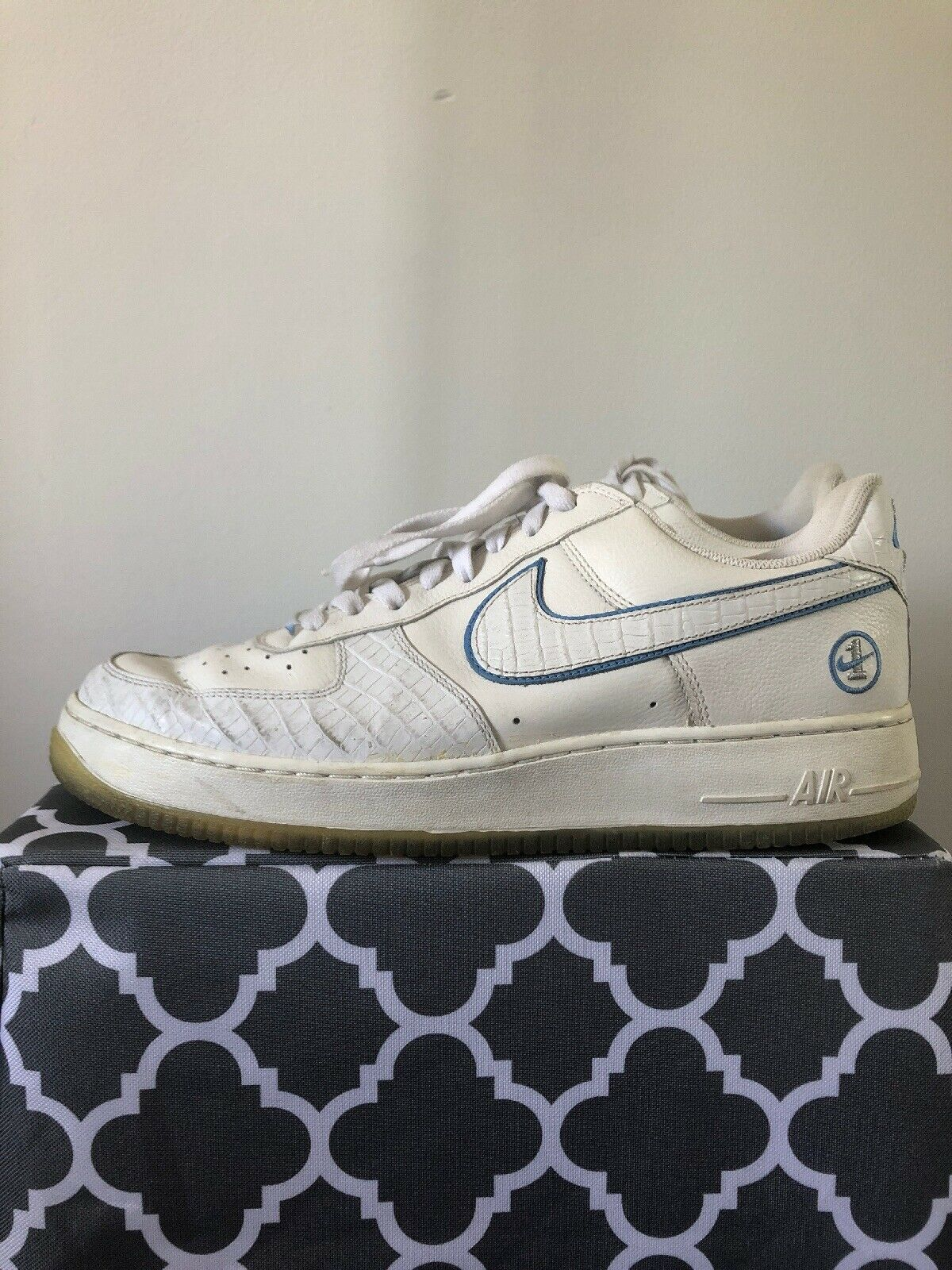 Nike Air Force 1 bluee And White Mens Size 12