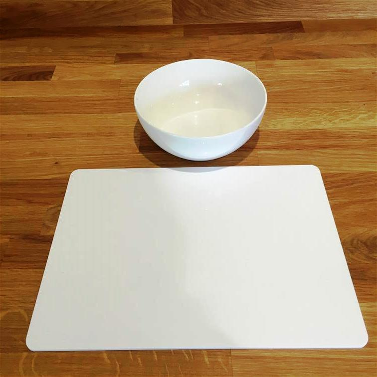 Rectangle Shaped White Gloss Acrylic Placemats Size 11.5x8.5  or 16x12
