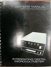 Doric Scientific Owners Manual Integrating Digital Microvoltmeter
