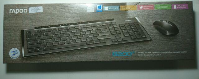 bf53ba9eb3d Rapoo 8200P Wireless Multimedia Keyboard & Mouse Combo ENG/HEB Black Brand  New