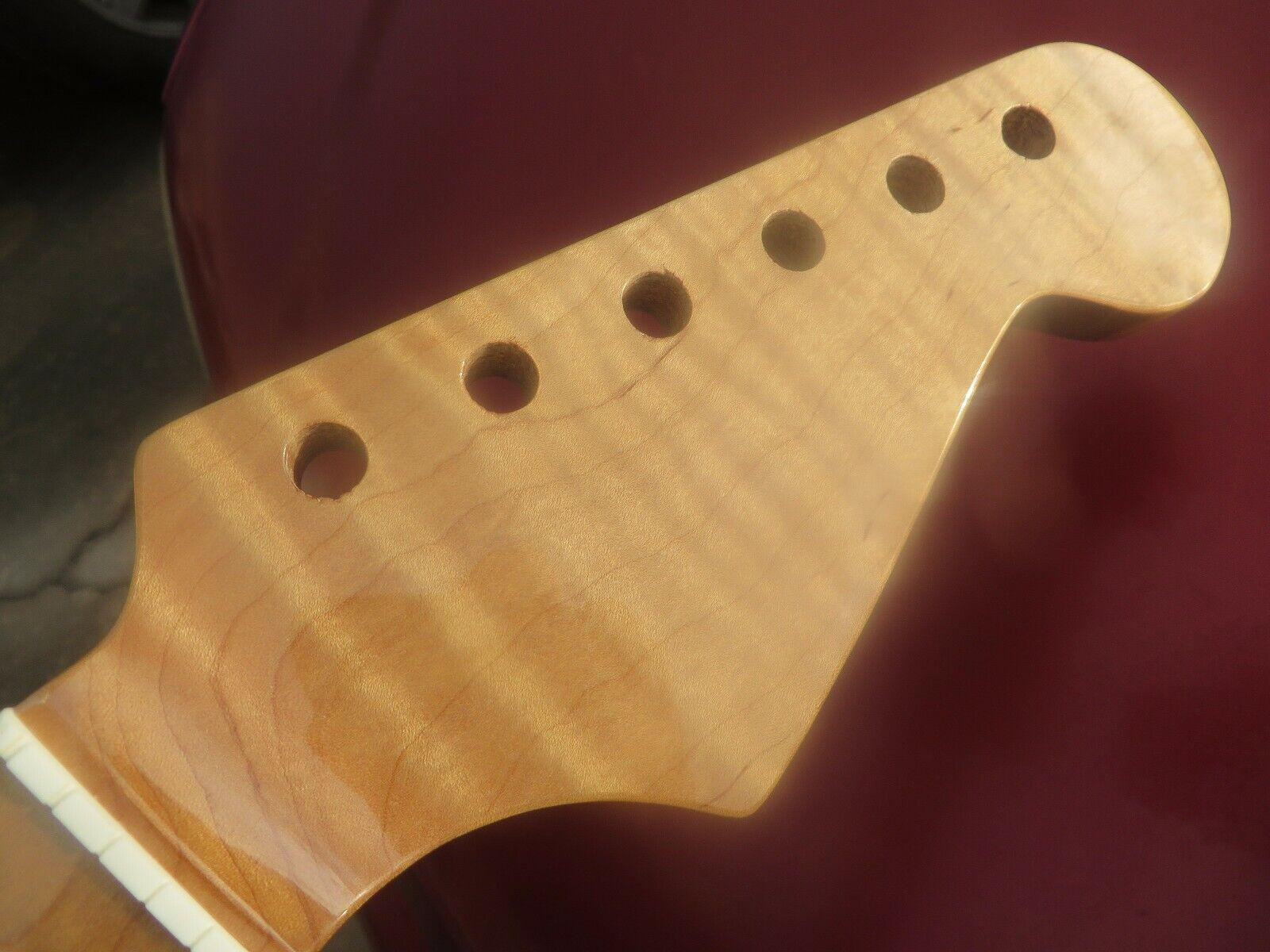 Für Fender Strat 5 Star Flamme Äußerst Figurativ Clear Ahorn Hals W   Stinktier