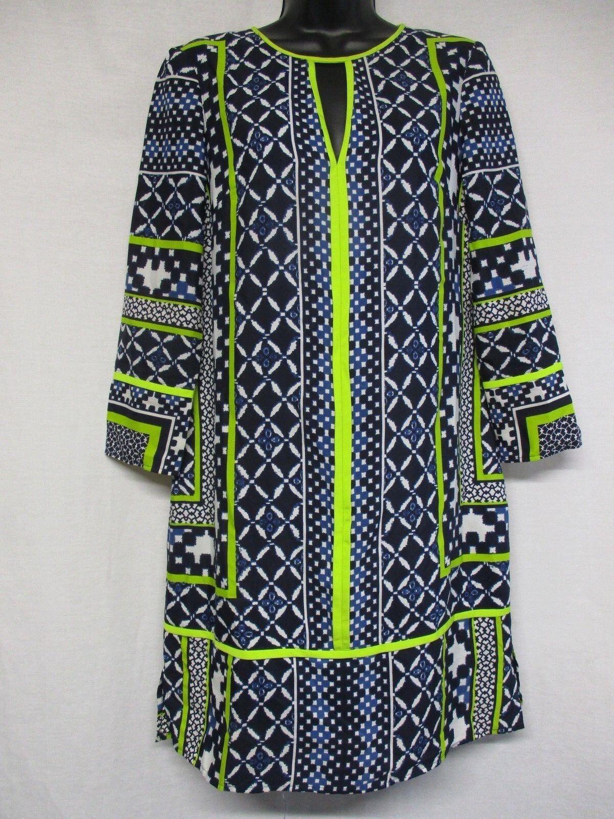 Vince Camuto Women's Printed  Keyhole Shift Dress Size 6        g2