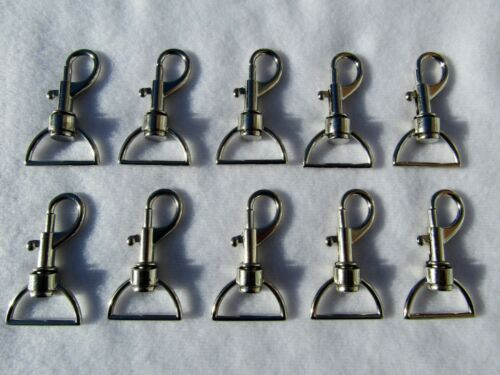 10 x DOG SWIVEL CLIP SNAP HOOK BAG CLASP 25mm Width Strapping UK