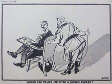 PRE WW2 DEMOCRACY V DICTATORSHIP 1938 Lows Political Parade BLIMP Cartoon