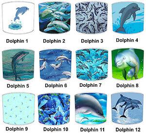 Delfin-Pantallas-de-Lampara-Para-Combinar-fundas-cojin-amp-Edredon