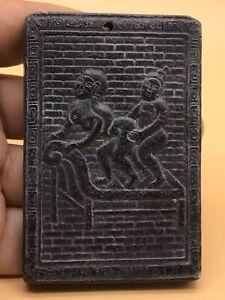 CIRCA-200-300AD-ANCIENT-ROMAN-JADE-EROTIC-SCENE-PLAQUE