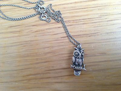 Halskette echt 925-Silber Eule necklace pendant boho vintage charm trend wow
