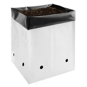 vivosun 1 2 3 5 gallon plastic grow bags poly plant pots soil root containers ebay. Black Bedroom Furniture Sets. Home Design Ideas