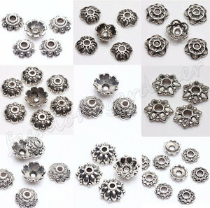 200Pcs Tibet Silver Metal Spacer Beads Caps 6/7/8/9mm Jewelry Findings Hot