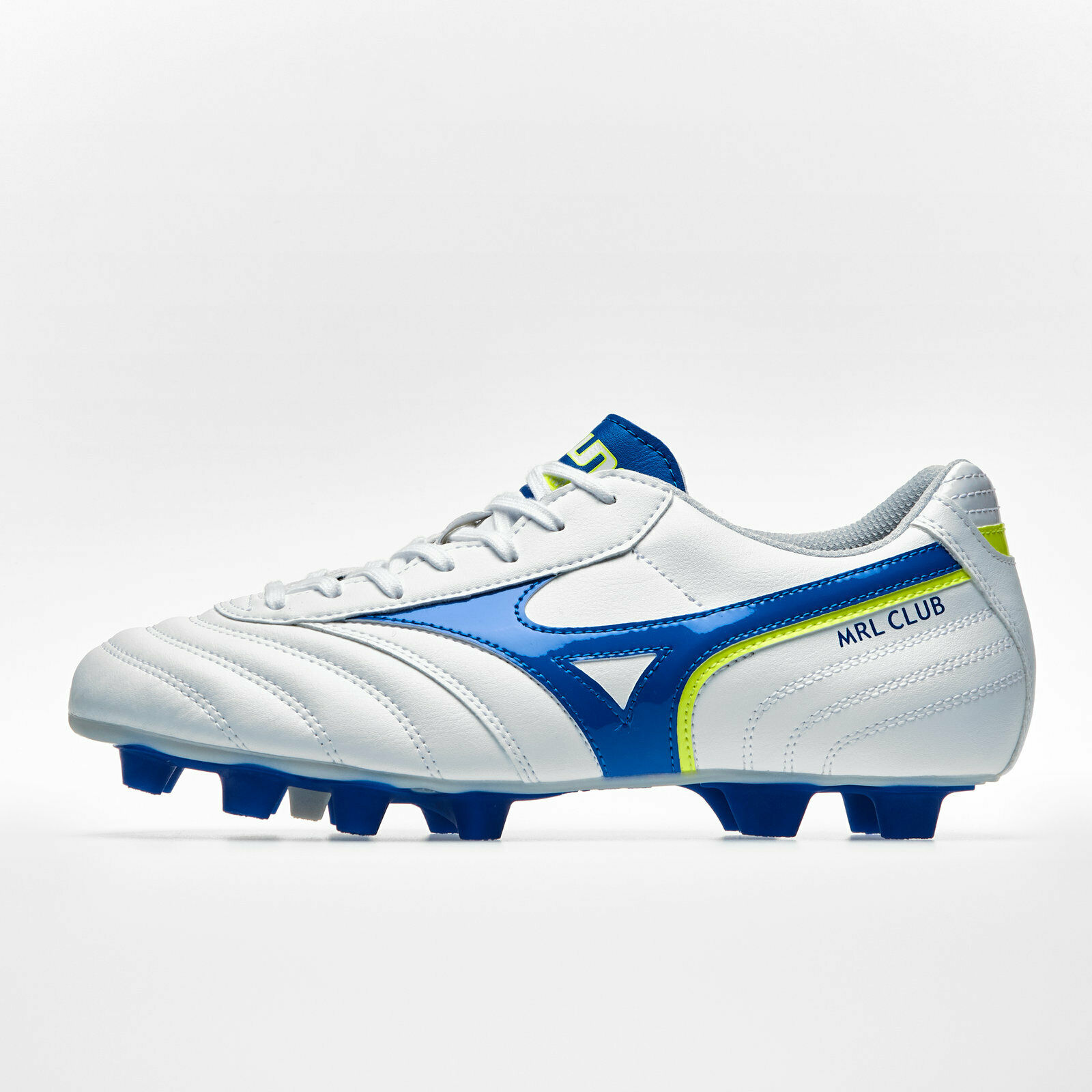 Mizuno Mens Morelia Club MD FG Football Stiefel Studs Trainers Sports schuhe Weiß