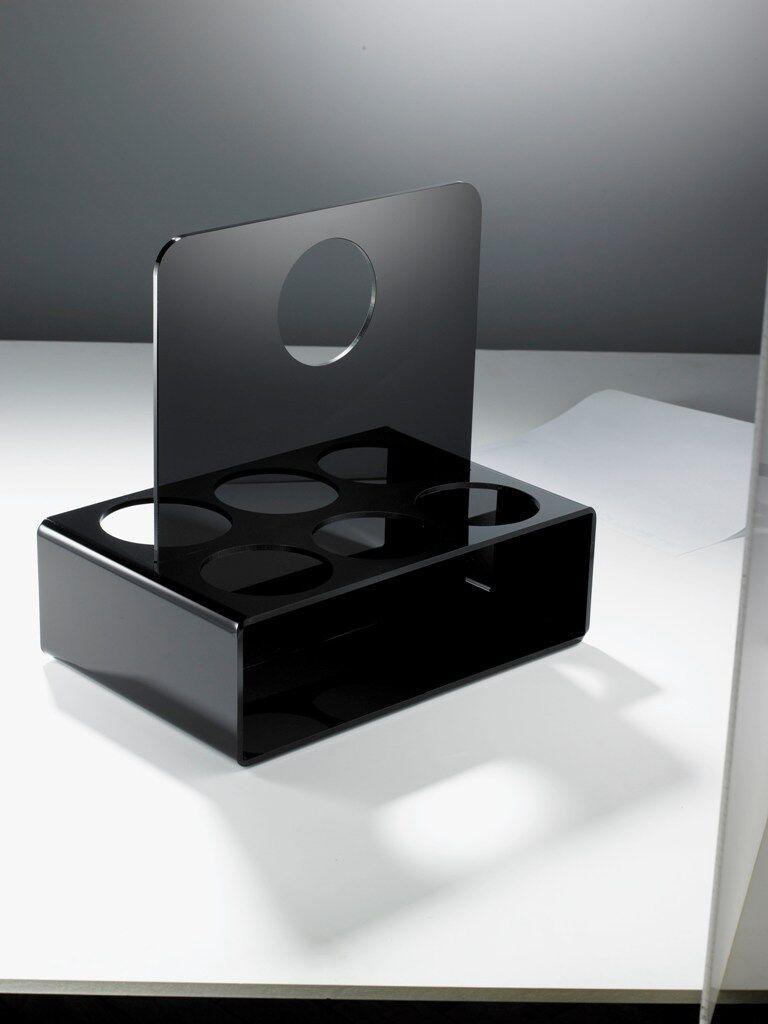 Flaschenträger aus Acrylglas -  Material Acryl schwarz – hochglanz | Heißer Verkauf