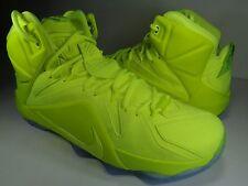Nike Lebron XII 12 EXT Tennis Ball Volt Black SP SZ 7.5 Womens 9 (748861-700)