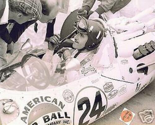 GRAHAM HILL  JOHN MECOM LOLA FORD   ORIGINAL 1966 WINNER INDY 500 8 X 10 PHOTO