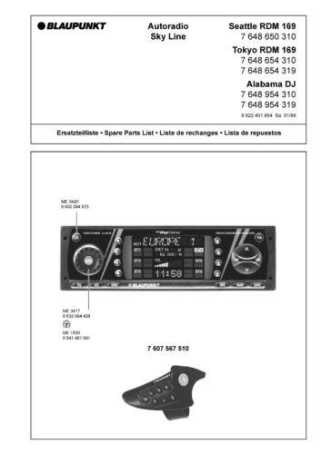 Service Manual-Anleitung für Blaupunkt Alabama DJ