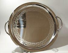 ITALIANO venticinquesimo anniversario VASSOIO, acciaio inox, W: 35 cm, con impugnature