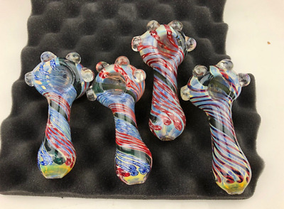 """5"""" Inch TOBACCO Smoking Pipe Herb Bowl Glass Hand Pipes Boro Glass"""