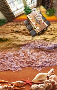 Conchas de playa 3D 642 Impresión De Parojo Papel Pintado Mural de piso 5D AJ Wallpaper Reino Unido Limón