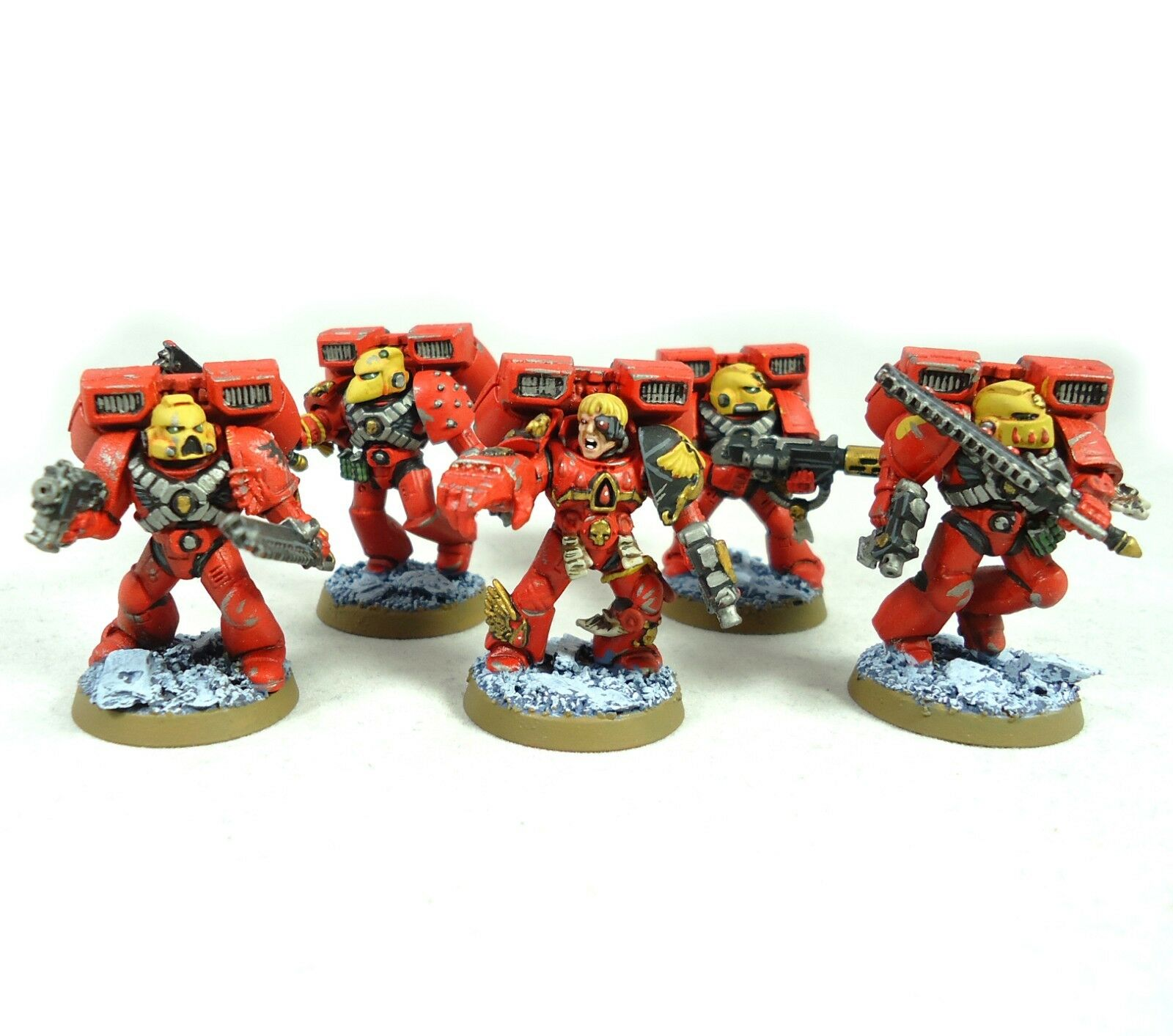 Warhammer 40k Armée Space Marines Blood Angels Assault Squad painted