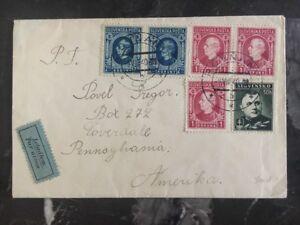 1940-Slovakia-Airmail-Cover-to-Lovedale-Pensilvania-USA