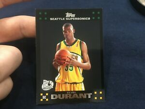 KEVIN-DURANT-2007-08-TOPPS-Black-112-RC-Rookie-READ-CORNER