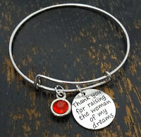 Personalized Mother Of The Groom Bangle - Choose A Birthstone