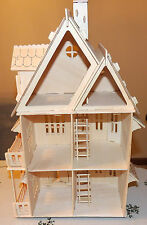 3D WOODEN VILLA DOLL HOUSE THREE FLOORS  KIT 1:24 SCALE GREAT GIFT