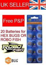 20 REPLACEMENT BATTERIES FOR HEXBUG NANO ROBO FISH CRAB HEX BUG BATTERY TAGAMOTO