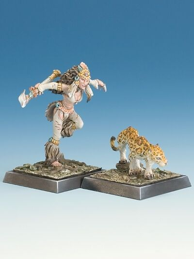 Freebooter`s Fate Tecuani and Onca Onca Onca Amazons metal miniature new 442f9d