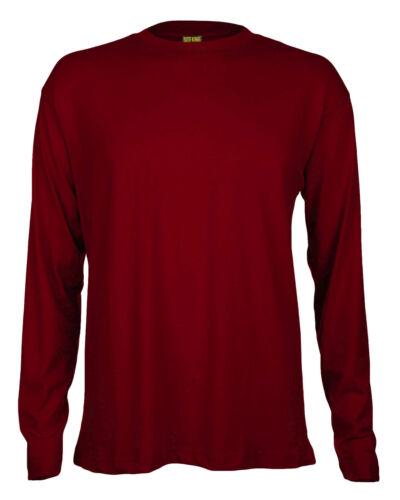 Site King pour homme à manches longues travail T Shirt-Qualité 200gsm 100/% Coton Chemises 315