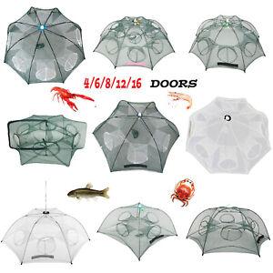 Portable-Fishing-Net-Shrimp-Cage-Nylon-Foldable-Crab-Fish-Mesh-Trap-Cast-Network